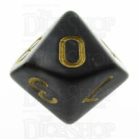 TDSO Pearl Black & Gold D10 Dice