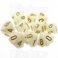 TDSO Pearl White & Gold 10 x D10 Set