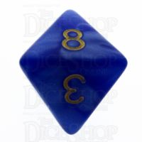 TDSO Pearl Blue & Gold D8 Dice