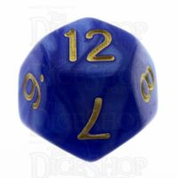 TDSO Pearl Blue & Gold D12 Dice