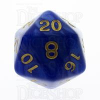 TDSO Pearl Blue & Gold D20 Dice