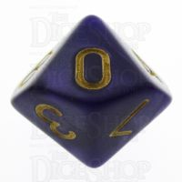 TDSO Pearl Purple & Gold D10 Dice