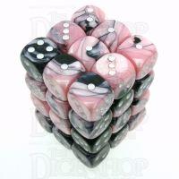 Chessex Gemini Black & Pink 36 x D6 Dice Set