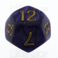 TDSO Pearl Purple & Gold D12 Dice