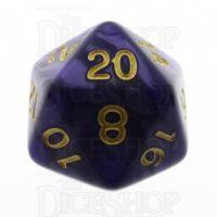 TDSO Pearl Purple & Gold D20 Dice