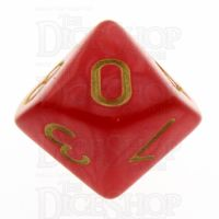 TDSO Pearl Red & Gold D10 Dice
