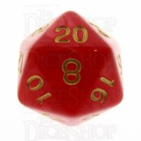 TDSO Pearl Red & Gold D20 Dice