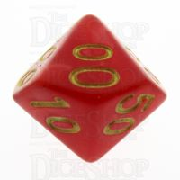 TDSO Pearl Red & Gold Percentile Dice