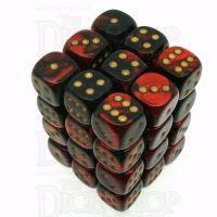 Chessex Gemini Black & Red 36 x D6 Dice Set