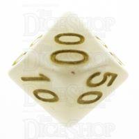 TDSO Pearl White & Gold Percentile Dice