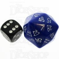 Tessellations Opaque Blue & White D48 Dice