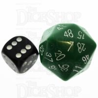 Tessellations Opaque Green & White D48 Dice