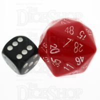 Tessellations Opaque Red & White D48 Dice