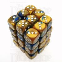 Chessex Gemini Blue & Gold 36 x D6 Dice Set