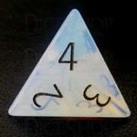 TDSO Opalite with Engraved Black Numbers 16mm Precious Gem D4 Dice