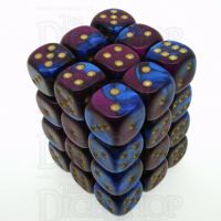 Chessex Gemini Blue & Purple 36 x D6 Dice Set