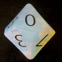 TDSO Opalite with Engraved Black Numbers 16mm Precious Gem D10 Dice