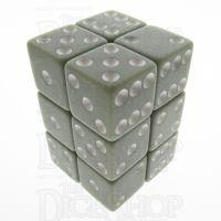 Koplow Opaque Pastel Grey & White Square Cornered 12 x D6 Dice Set