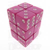 Koplow Opaque Pastel Purple & White Square Cornered 12 x D6 Dice Set