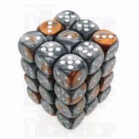 Chessex Gemini Copper & Steel 36 x D6 Dice Set