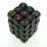 Chessex Gemini Green & Purple 36 x D6 Dice Set