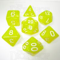 TDSO Pearl Yellow & White 7 Dice Polyset