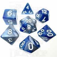 TDSO Duel Blue & Steel 7 Dice Polyset