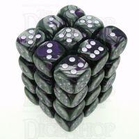 Chessex Gemini Purple & Steel 36 x D6 Dice Set