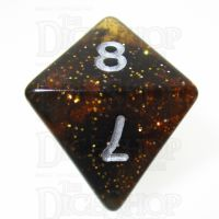 TDSO Glitter Amber D8 Dice