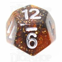 TDSO Glitter Amber D12 Dice