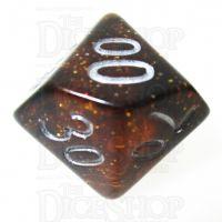 TDSO Glitter Amber Percentile Dice