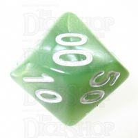 TDSO Pearl Pale Green & White Percentile Dice