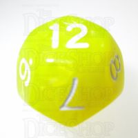 TDSO Pearl Yellow & White D12 Dice