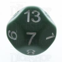 Impact Opaque Green & White D13 Dice