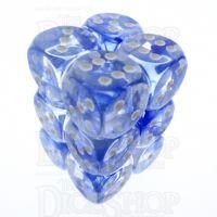 TDSO Eldritch Swirl Blue 12 x D6 Dice Set