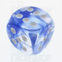 TDSO Eldritch Swirl Blue 16mm D6 Spot Dice