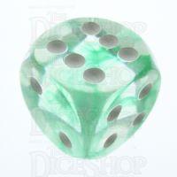 TDSO Eldritch Swirl Green 16mm D6 Spot Dice