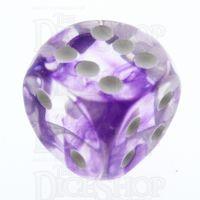 TDSO Eldritch Swirl Purple 16mm D6 Spot Dice