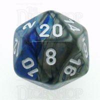 Chessex Gemini Blue & Steel D20 Dice