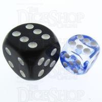TDSO Eldritch Swirl Blue 12mm D6 Spot Dice