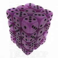 TDSO Frost Purple Glow in the Dark 36 x D6 Dice Set