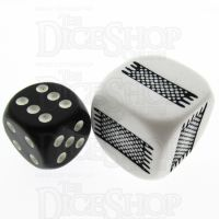 Koplow Opaque White Thick & Thin JUMBO 20mm D6 Dice