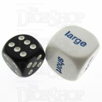 Koplow Opaque White Size Comparison JUMBO 20mm Dice
