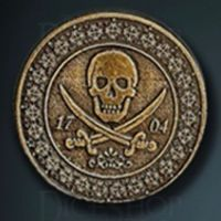Pirate Legendary Metal Gold Coin
