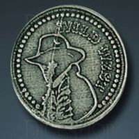 Wild West Legendary Metal Silver Coin