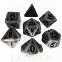 TDSO Opaque Antique Silver 7 Dice Polyset