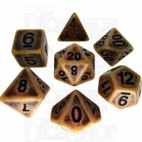 TDSO Opaque Antique Gold 7 Dice Polyset