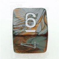 Chessex Gemini Copper & Steel D6 Dice