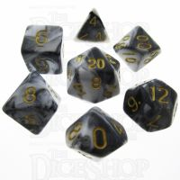 TDSO Duel Black & White 7 Dice Polyset