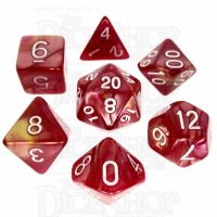TDSO Duel Rose & Yellow 7 Dice Polyset